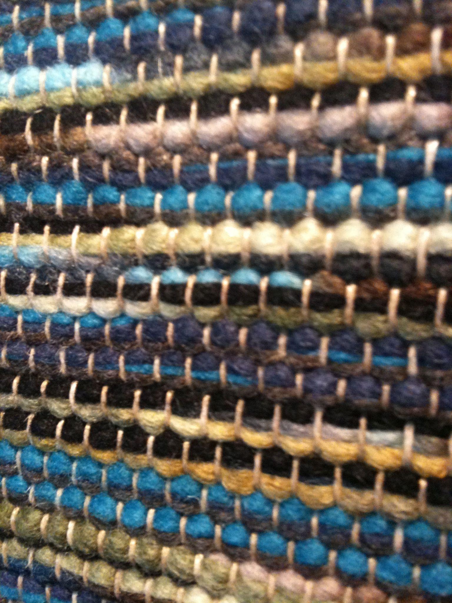 Brink & Campman karpet gusto. 100% wol glad geweven met contrasterende kleuren.