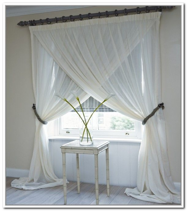 Hanging Criss Cross Curtains