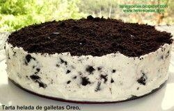 Tarta helada de galleta Oreo, lo mejor de lo mejor en postres!!