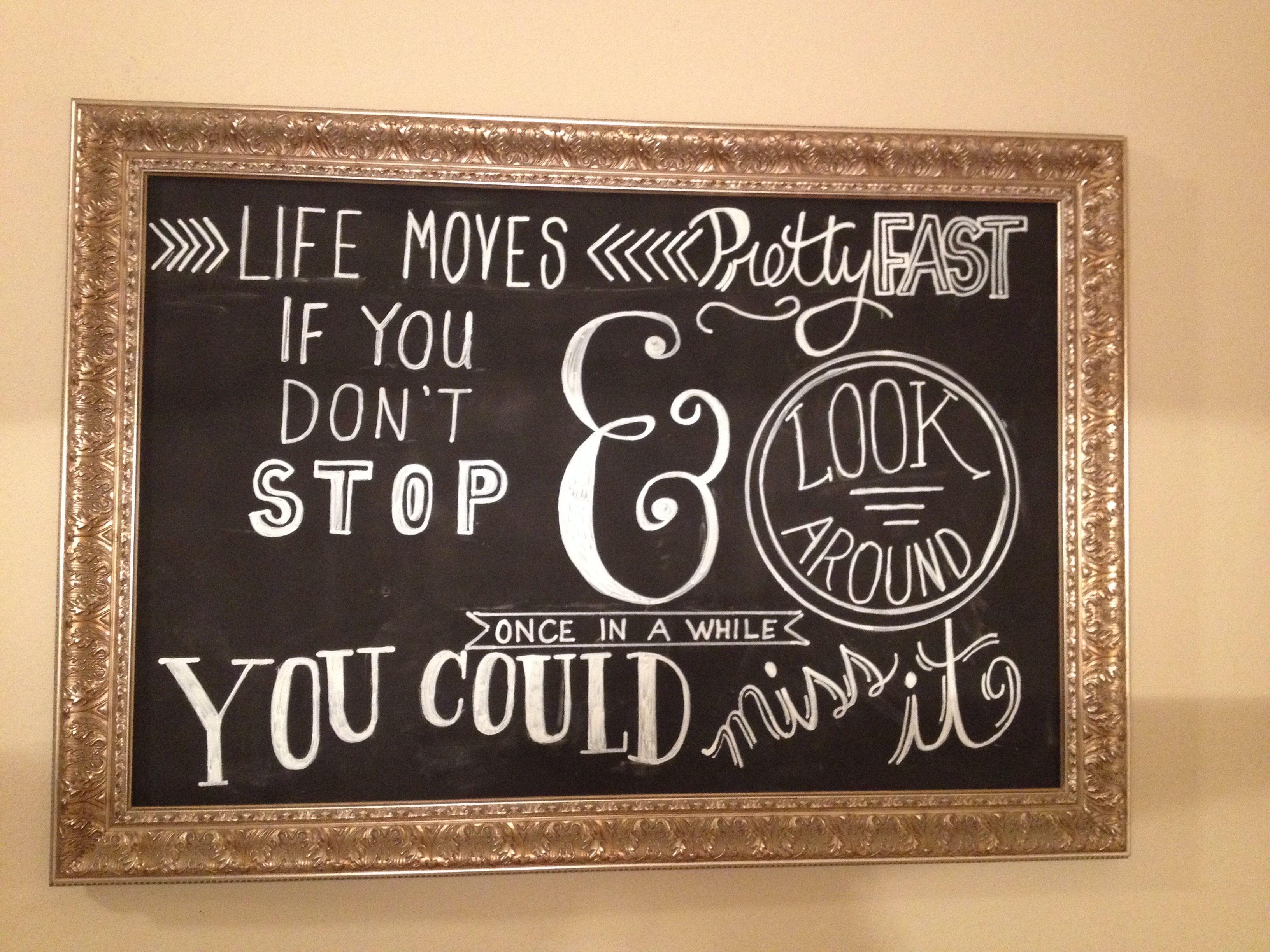 DIY chalkboard           Chalkboard paint.     Chalkboard markers.       Ferris Bueller.