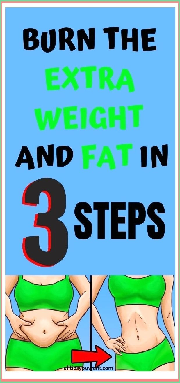 BURN THE EXTRA WEIGHT AND FAT IN 3 STEPS BURN THE