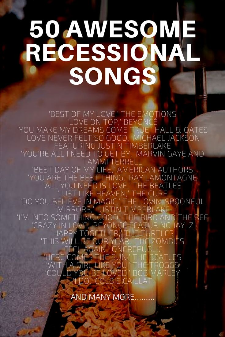50 Awesome Recessional Songs Wedding reception music