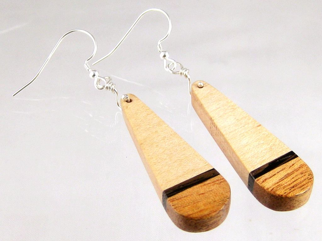 b577ea9536d607 Handmade from natural wood free of dyes or stains. Unique handmade earrings  – teardrop earrings