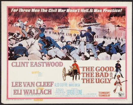 Poster Badezimmer ~ The good the bad the ugly half sheet movie poster sergio leone