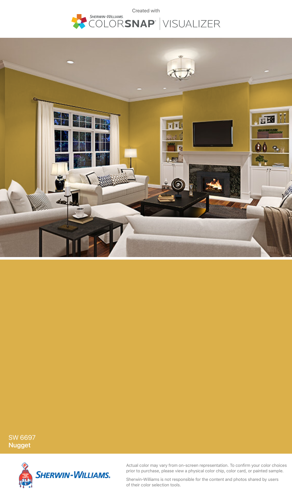 Sherwin Williams Nugget Sw 6697 Condo Living Room House