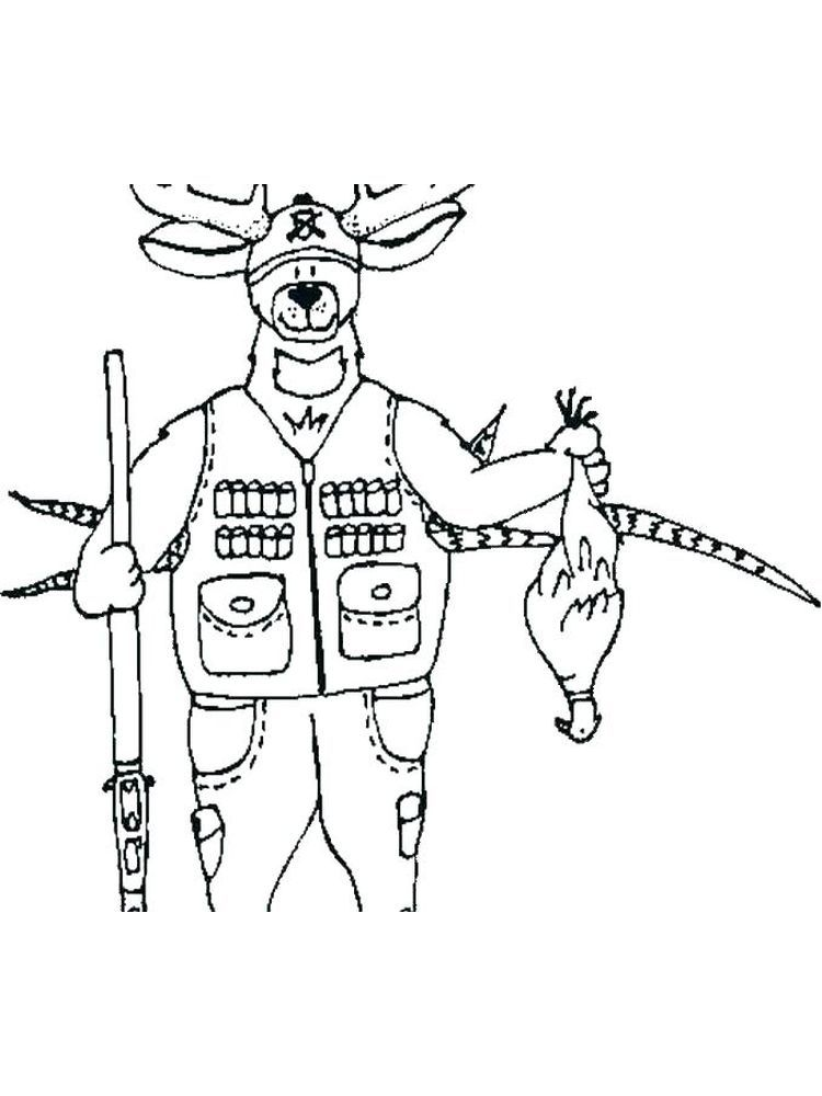 hunting coloring pages to print free. Below is a