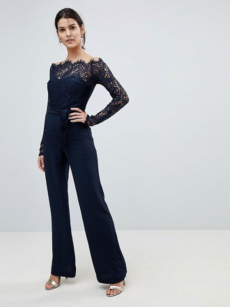35 Cool And Dressy Jumpsuits For Wedding Guests Lace Top Jumpsuit Fancy Jumpsuit Jumpsuit For Wedding Guest