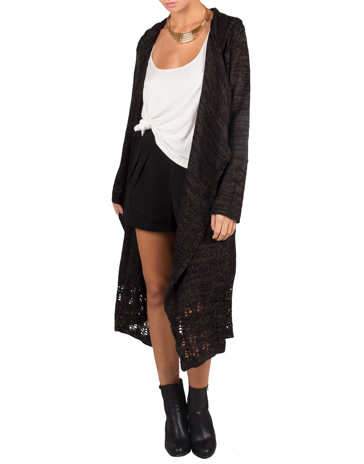 Long Holey Open Knit Cardigan - Large | Style We Like | Pinterest ...