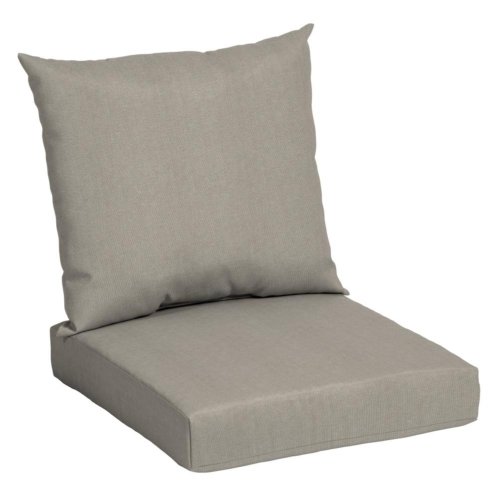 Mainstays Solid Tan 45 X 22 75 In Outdoor Deep Seat Cushion Set Walmart Com In 2020 Deep Seat Cushions Deep Seating Outdoor Deep Seat Cushions