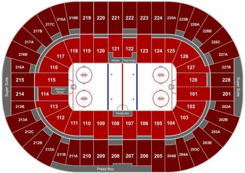 My Seats Are At The Joe Joe Louis Arena Detroit Red Wings Red Wings