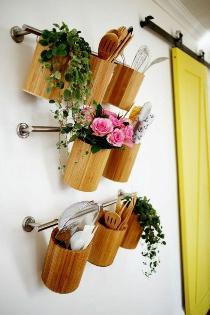 kleine küche einrichten optimale raumnutzung ikea stange ordnung ...
