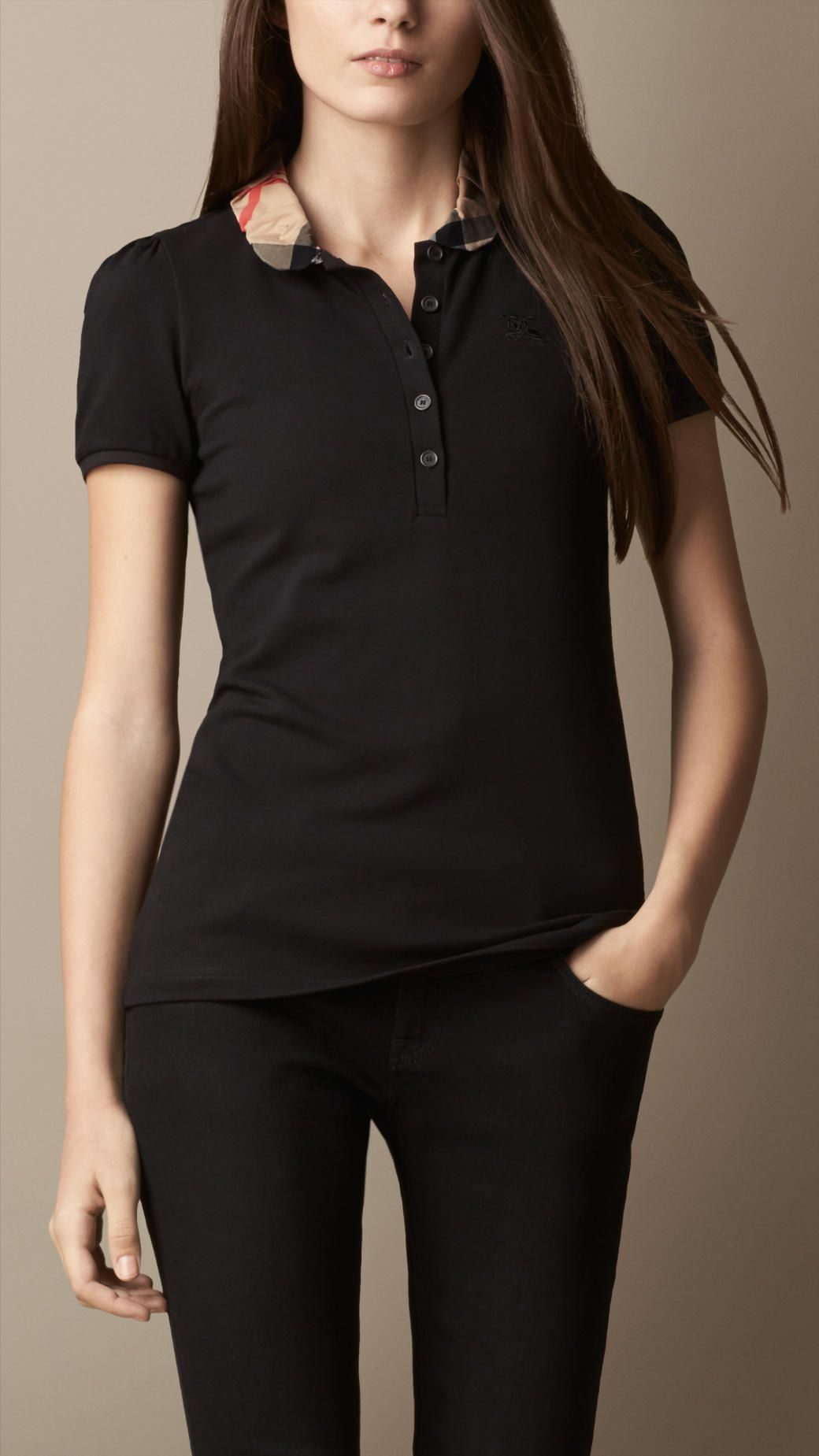 d4806bbecf Women's Clothing in 2019 | Clothes | Burberry polo shirt, Shirts ...