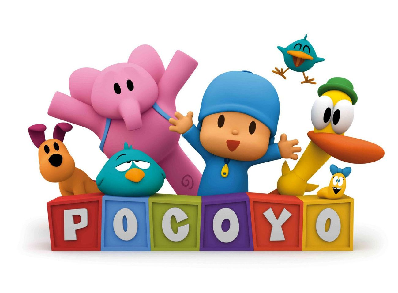 POCOYO Birthday Party Edible Cake Toppers Cupcakes Decoration Favor Personalized