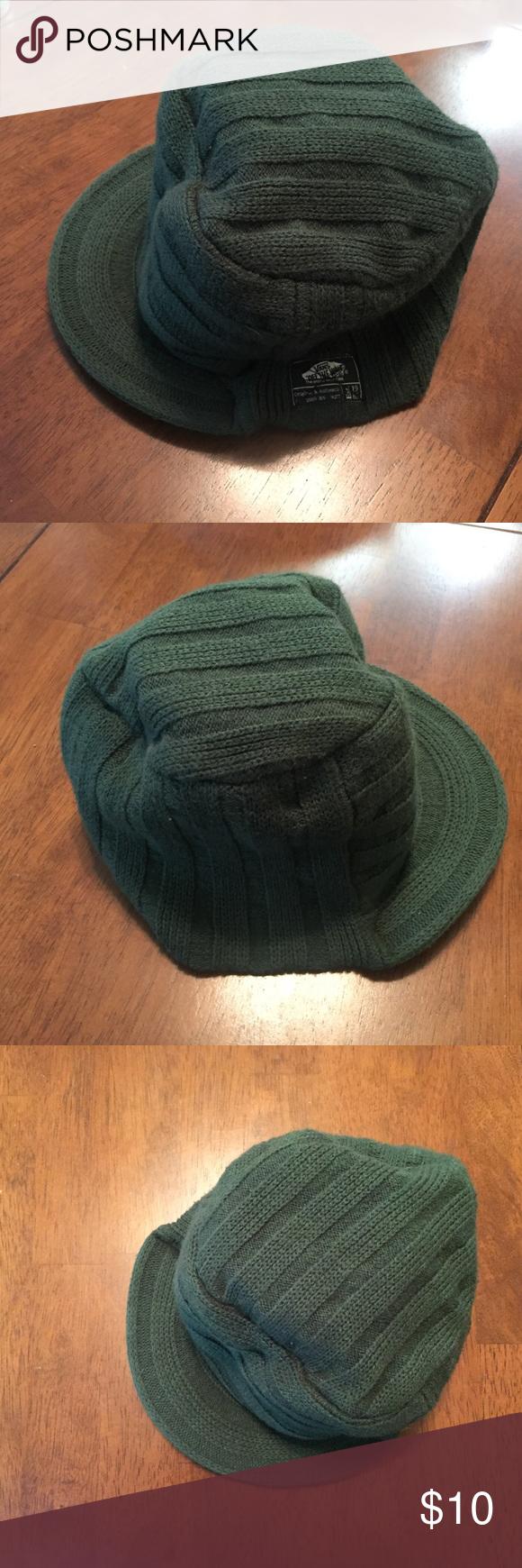 6a3d81295ef Vans beanie with brim Vans olive green knit beanie