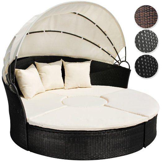 Rattan lounge muschel  Poly Rattan Lounge Sonneninsel mit Tisch Wohlfühllandschaft inkl ...