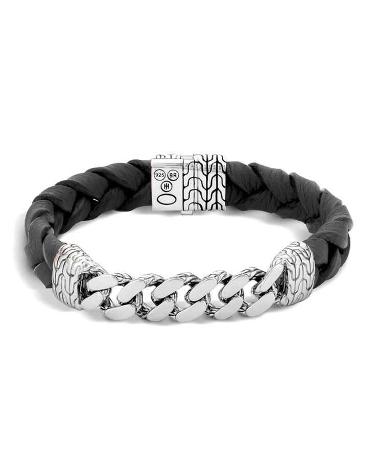 John Hardy Mens Classic Chain Onyx ID Bracelet df8H5gp3C