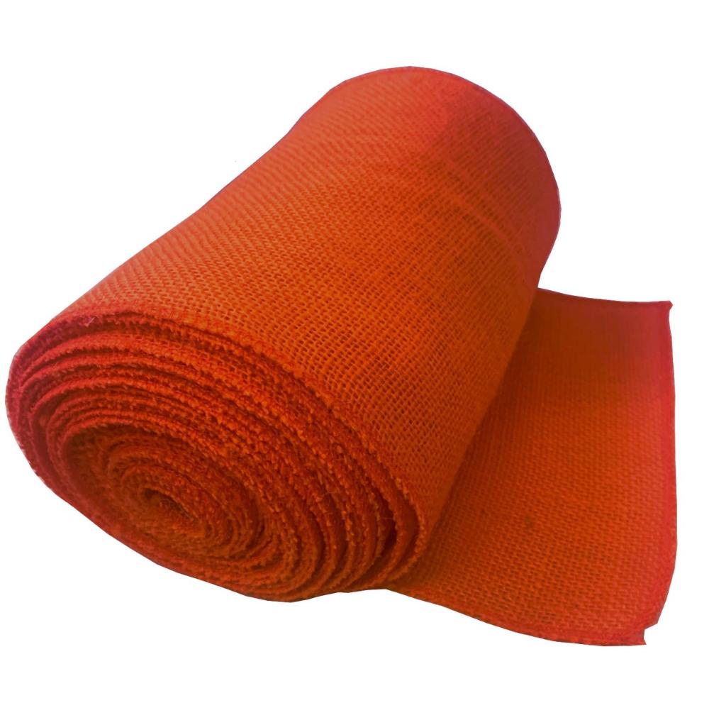 9 Tangerine Burlap Ribbon 10 Yard Roll Serged Made In Usa In 2020 Burlap Ribbon Eco Friendly Decor Burlap