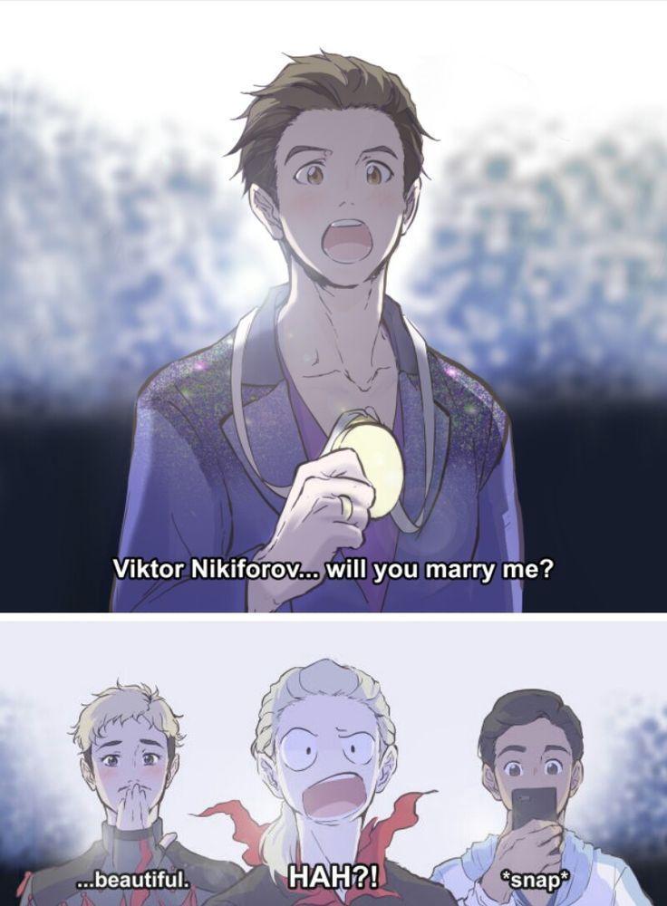 Cómics de Yuri on Ice - (Victuri) Si HUBIERA ganado el Oro ;-;