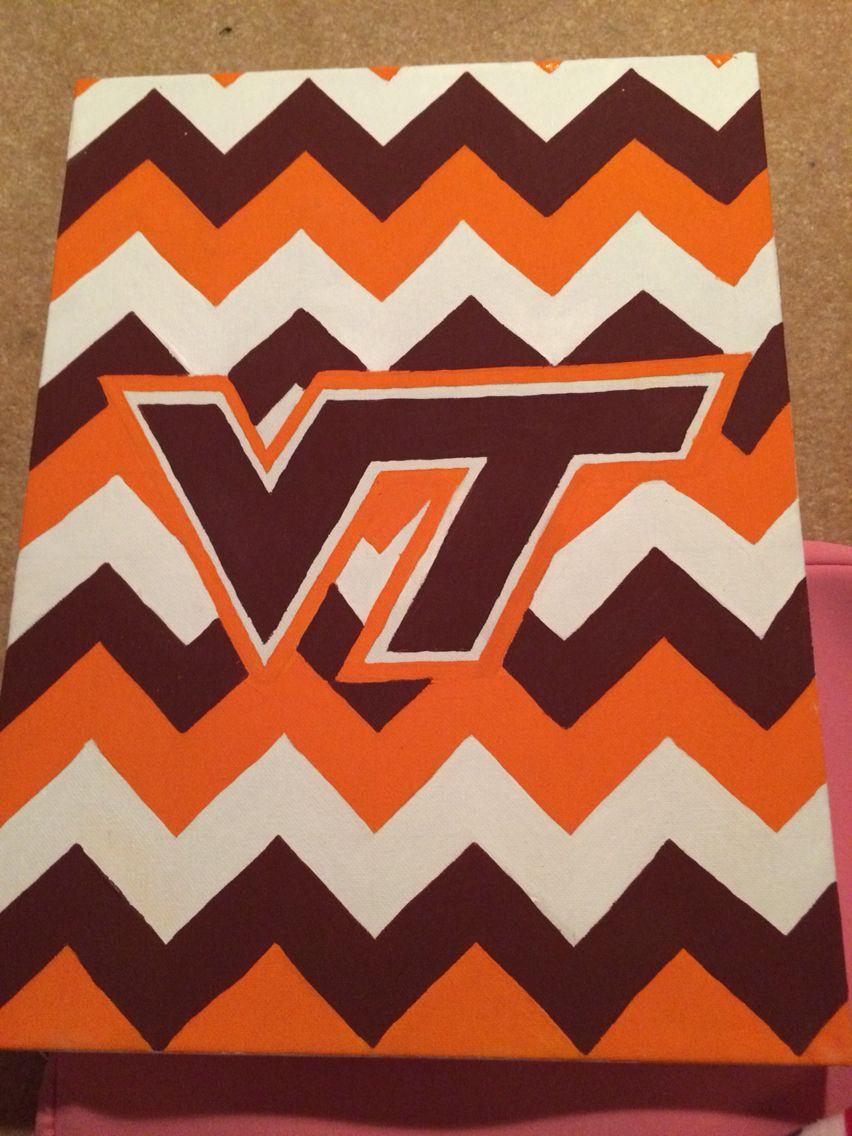 Virginia Tech Canvas Painting Virginia Tech Crafts Virginia Tech Dorm Art