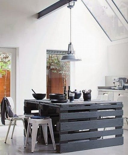 Mesa con palets   decoracion hogar   decoracion diy manualidades ...