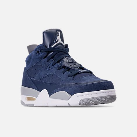 ff0feee692b144 Three Quarter view of Men s Air Jordan Son of Mars Low Off Court Shoes in  Navy White Wolf Grey