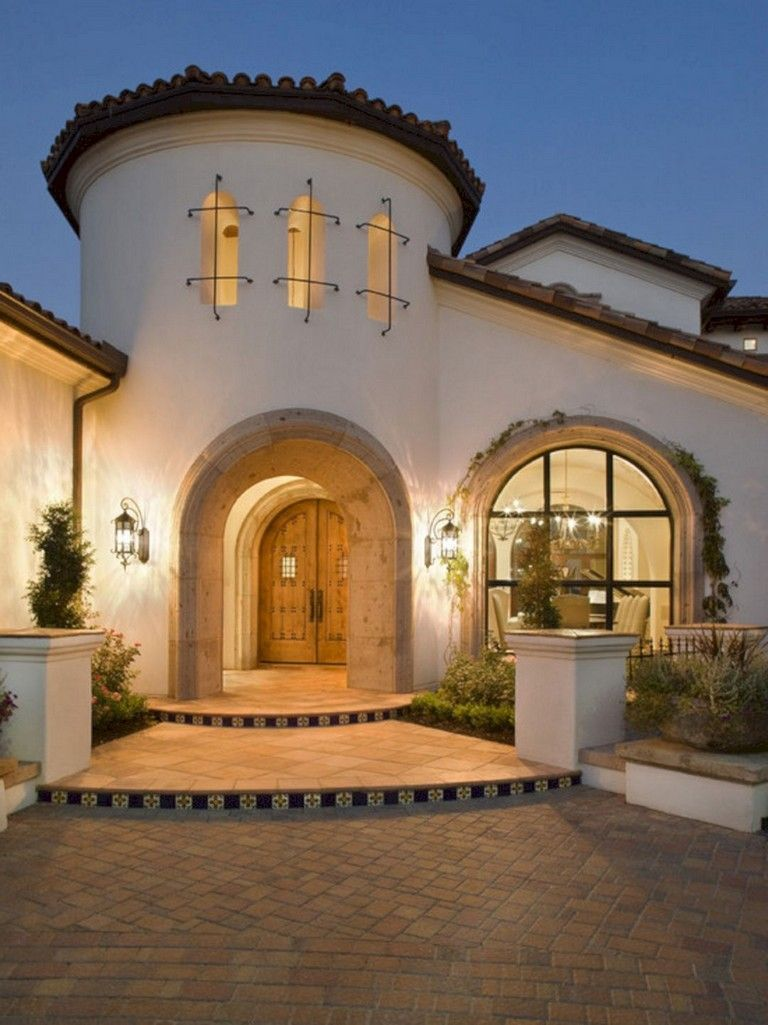 25 Stunning Mediterranean Exterior Design Mediterranean House Designs House Paint Exterior Mediterranean Homes
