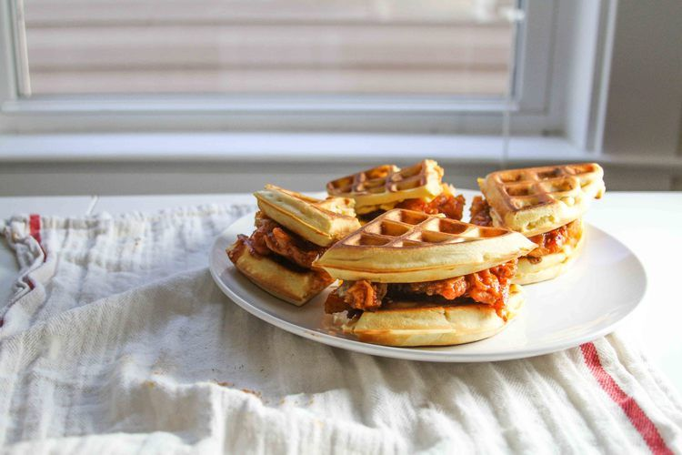 Korean Chicken and Waffle Sandwich | Broad Appetite