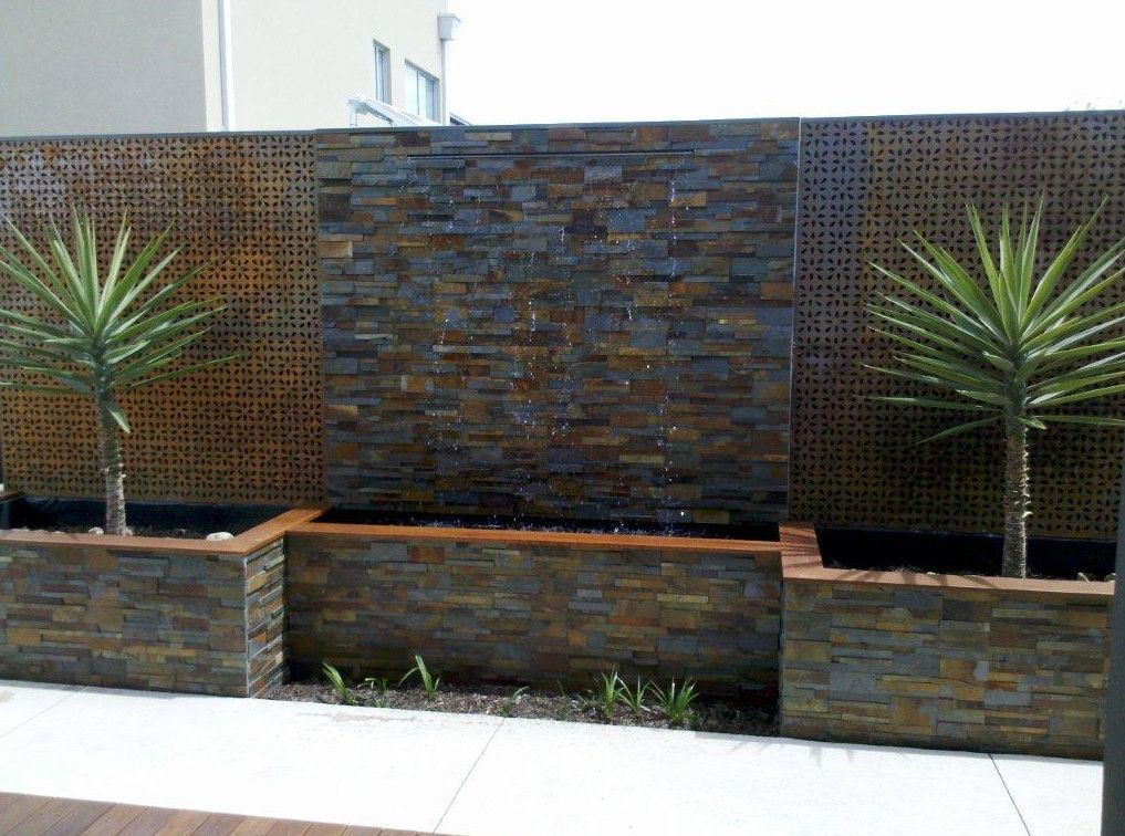 30 Relaxing Water Wall Ideas For Your Backyard Or Indoor Outdoor