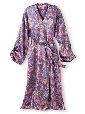 Floral Printed Silk Robe | WinterSilks | $57.87