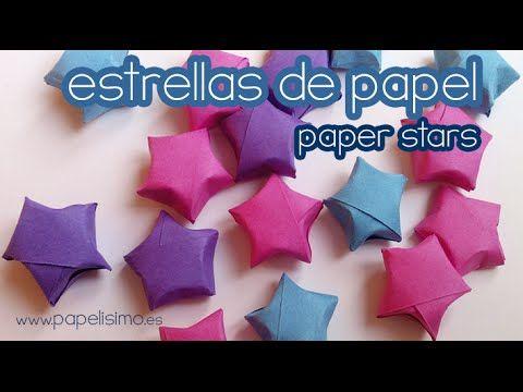 Como Hacer Estrellas De Papel Pequenas Estrellas De Papel Sobres De Papel Manualidades Con Hojas De Colores