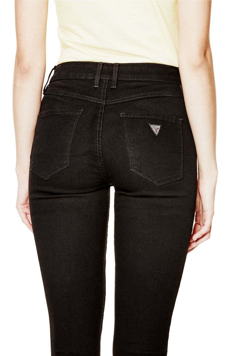 6a1d56879 1981 High-Rise Skinny Jeans with Black Silicone Rinse | GUESS.com ...
