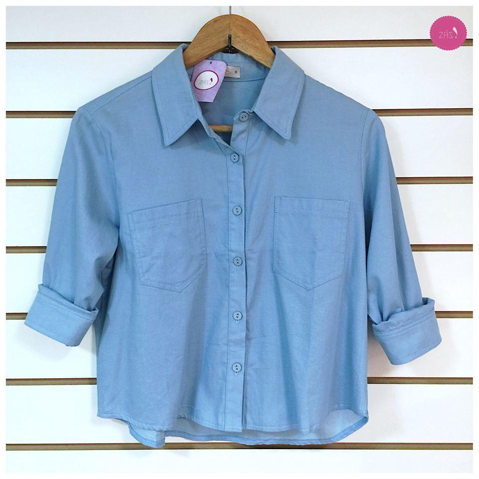 É camisa mas também é cropped! Linda demais!!! #Vemprazas