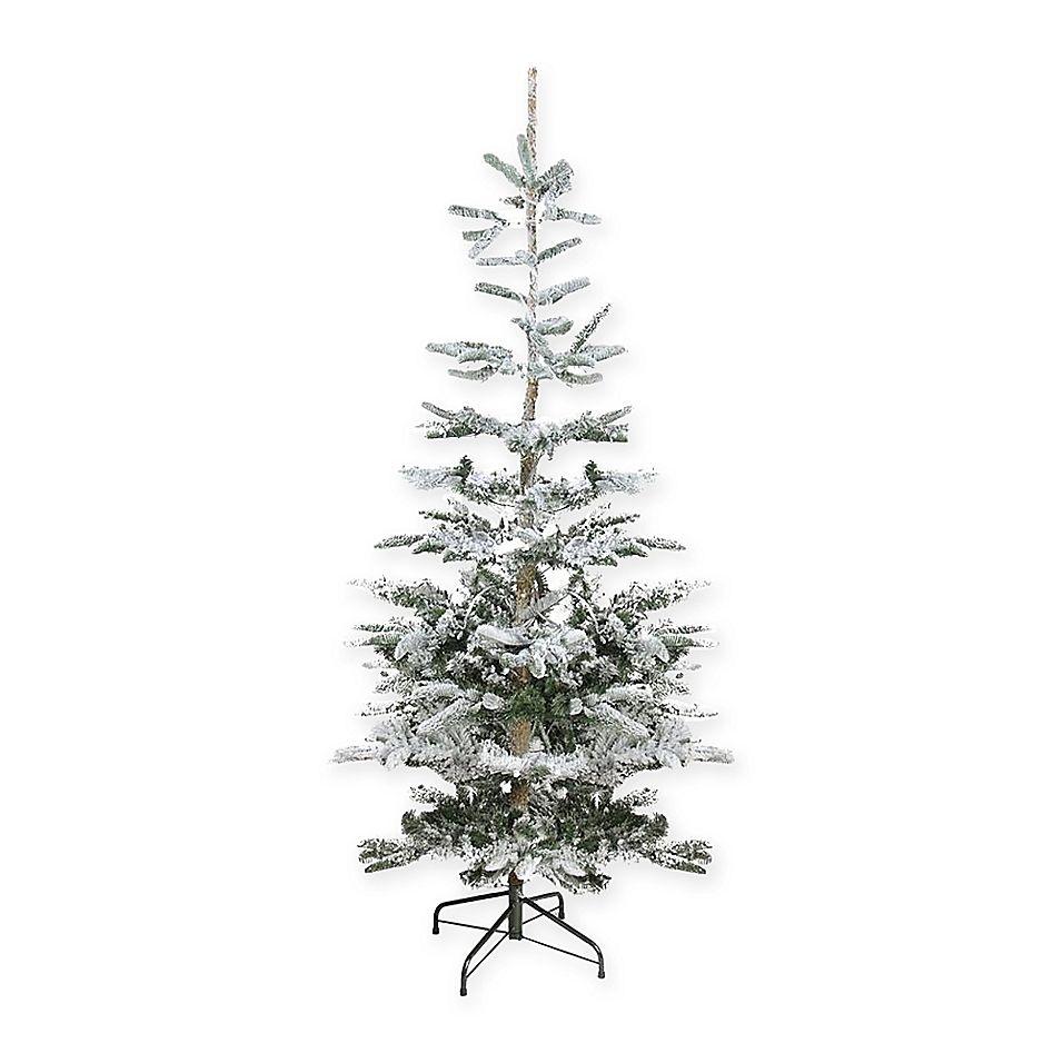 Northlight 6.5' Flocked Noble Fir Christmas Tree Green ...