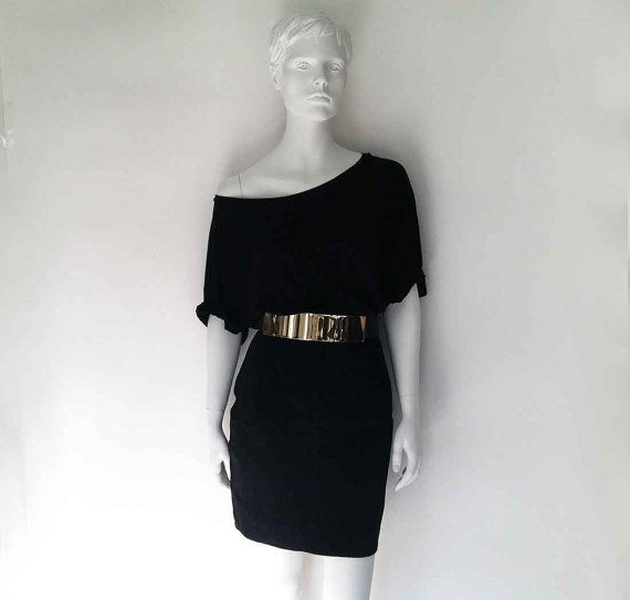 The Stark Black Suede Minimalist Mini Skirt M L by OBJECTSofMATTER