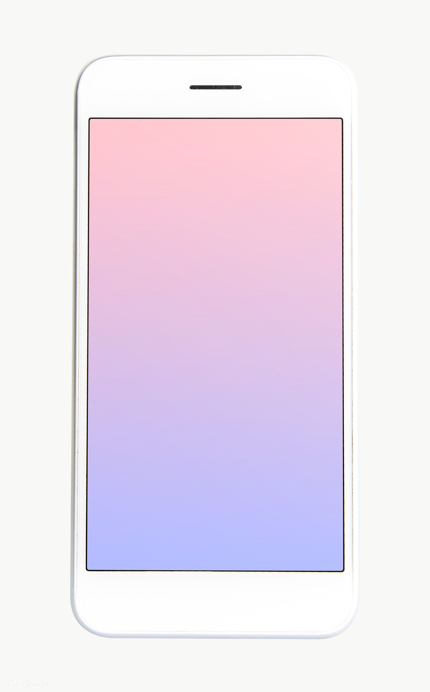 Download Premium Png Of White Cellphone With Pastel Wallpaper