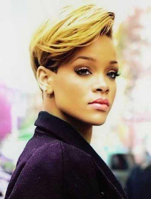 10 Best Rihanna Short Blonde Hair Short Blonde Hair Short Sassy
