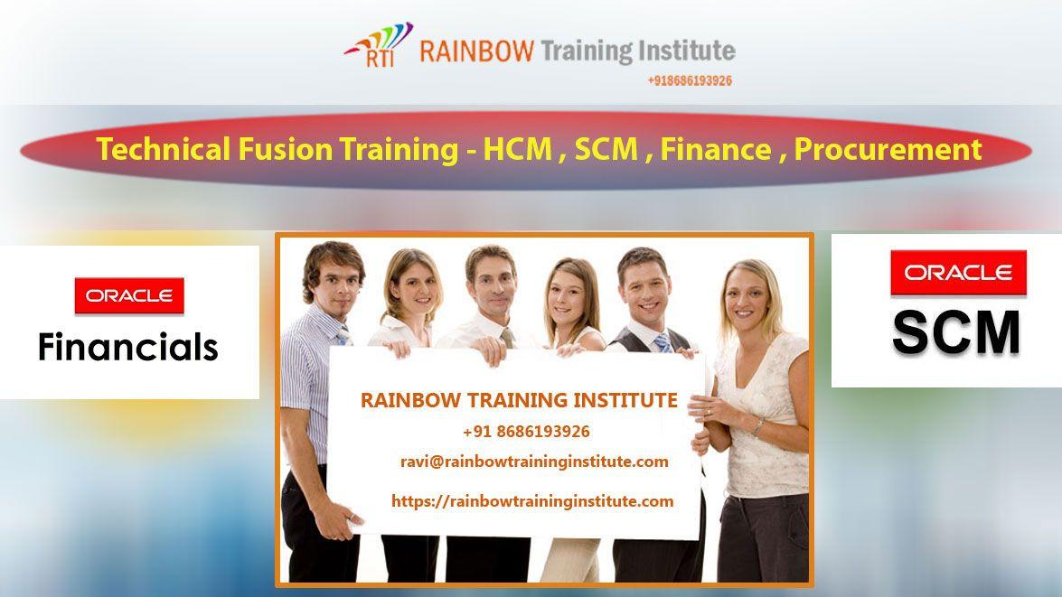 Rainbow Training Institute offering Oracle Fusion HCM online training Course in Hyderabad, Pune, Chennai, Mumbai, Bangalore, India, USA, UK, Australia, New Zealand, UAE, Saudi Arabia ,Pakistan, Singapore, Kuwait