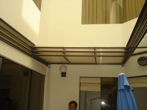 Techos en policarbonato corredizos fijos techos para for Como hacer un techo economico