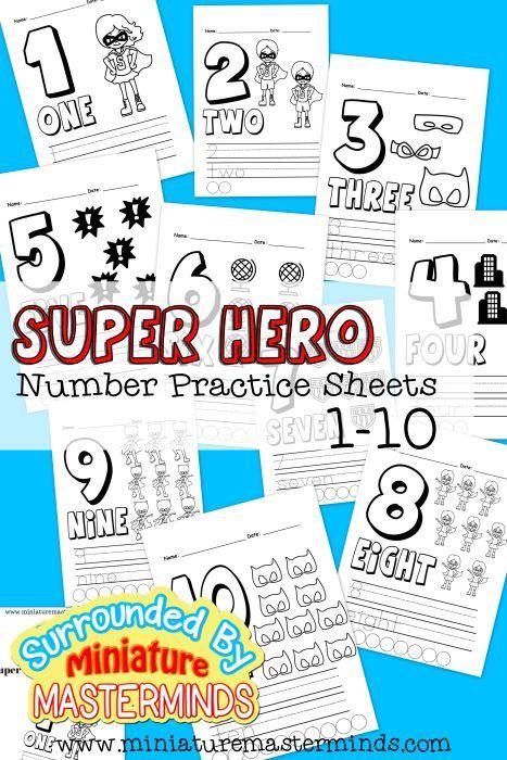 Free Printable Super Hero Number