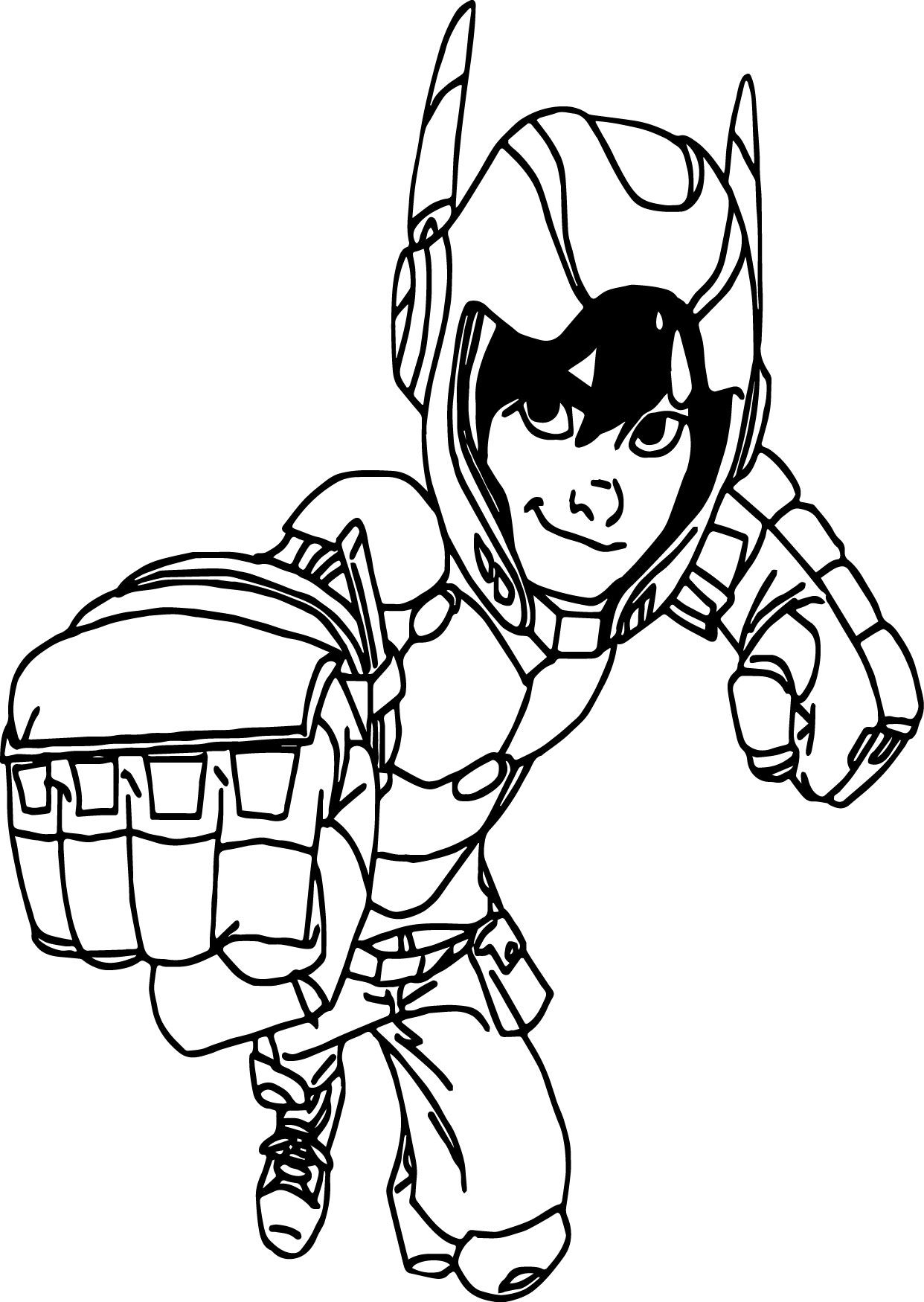 Hero 6 Coloring Pages