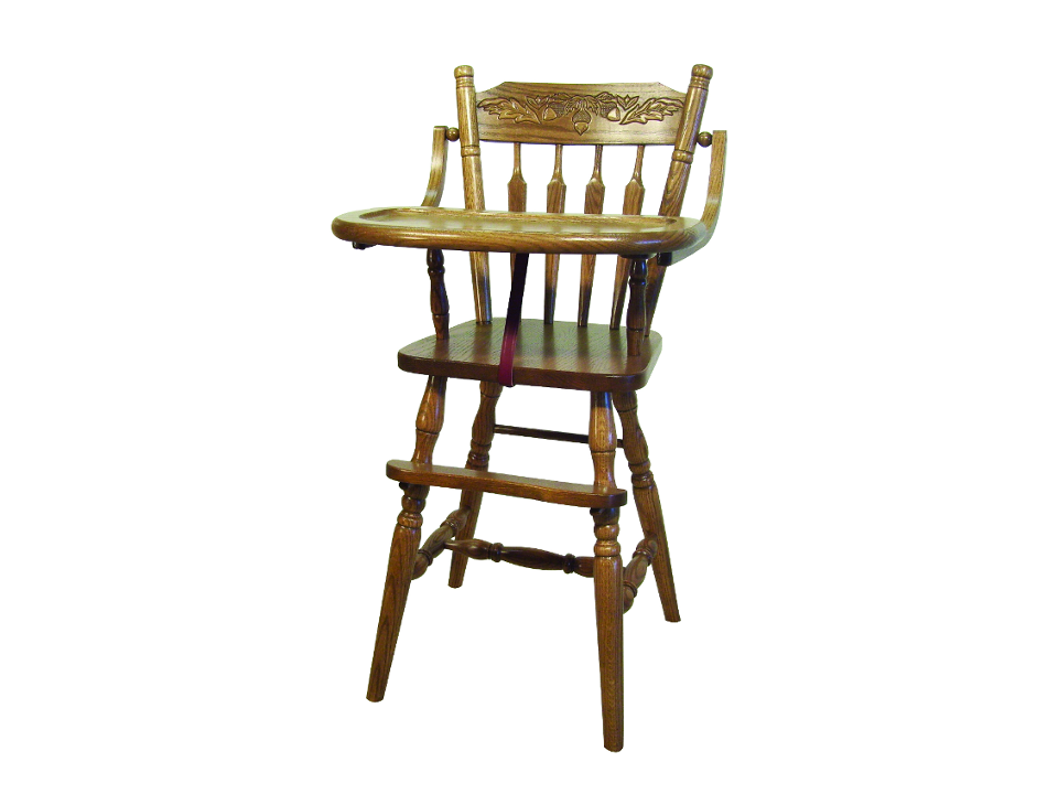 Acorn High Chair Foothills Amish, Foothills Amish Furniture