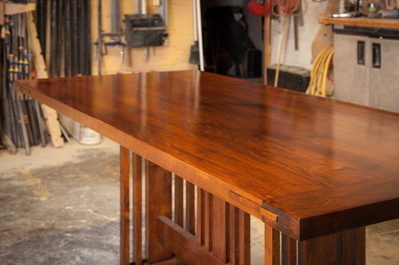 Custom Arts And Craft Dining Table 3 500 00 Via Etsy Custom