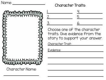 Printable Character Traits Worksheets: character traits worksheet printable teaching ideasteaching ,