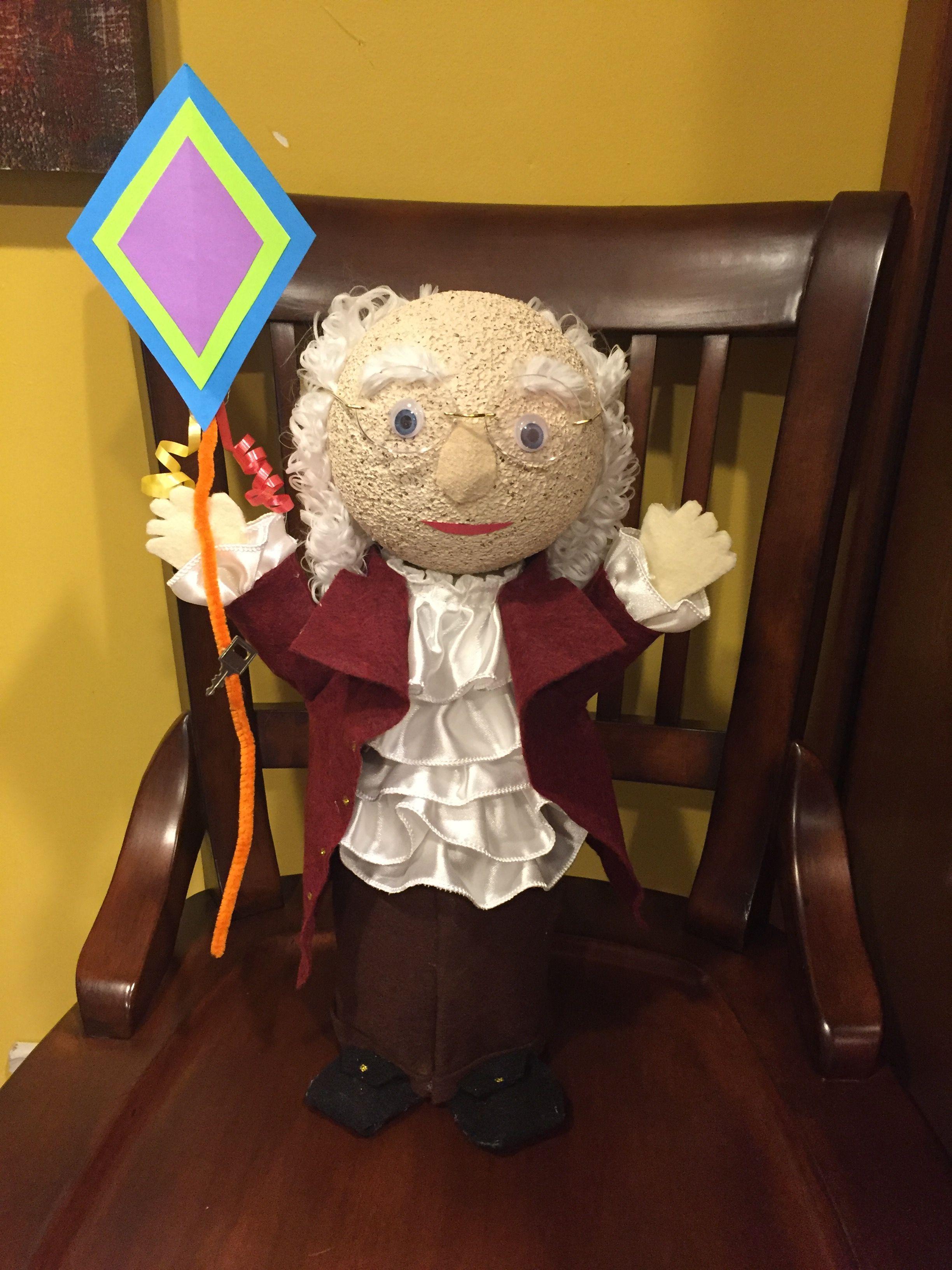 Benjamin Franklin Bottle Doll