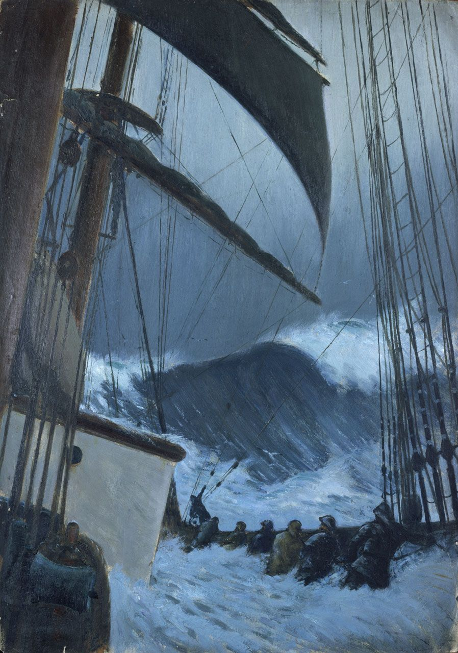 The Deck of the 'Birkdale' in a Storm - National Maritime Museum
