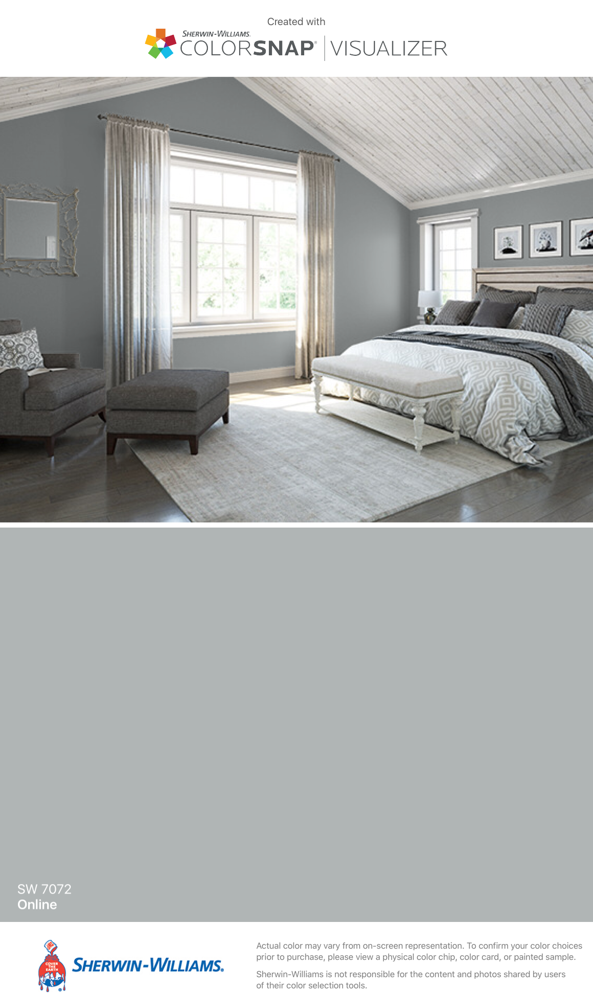 I Found This Color With Colorsnap Visualizer For Iphone By Sherwin Williams Online Sw 7072