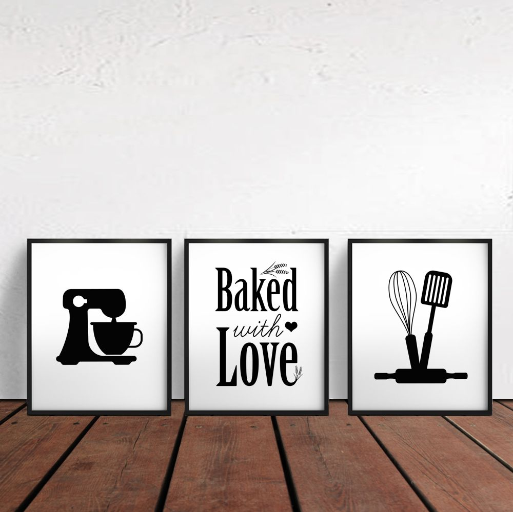 Kitchen Bakery Signs Gift For Baker Wall Decor Art Baking Print Diy Printables
