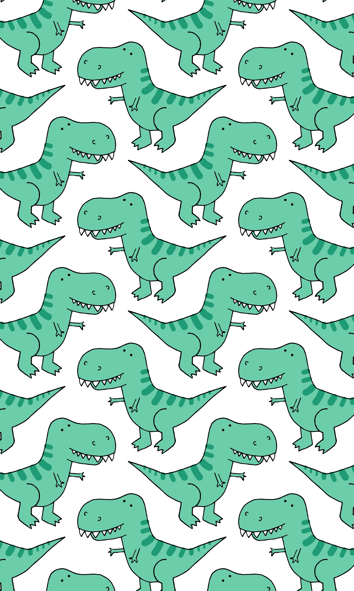 iPhone XS Case - T-Rex Dinosaur Pattern (PATTTREX1-C) by Happy Cat Prints #dinosaurillustration