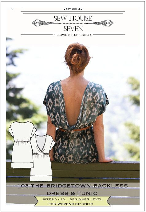 d5644d1ceda The Bridgetown Backless Dress & Tunic Pattern (pdf pattern ...