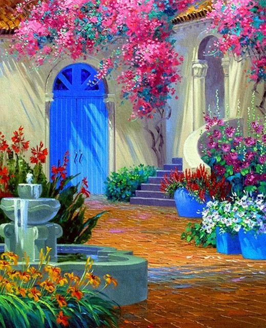 Cuadros modernos pinturas imagenes de flores para pintar - Cuadros para pintar en casa ...